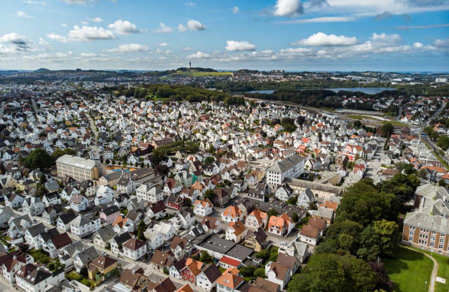 Flyfoto fra Stavanger