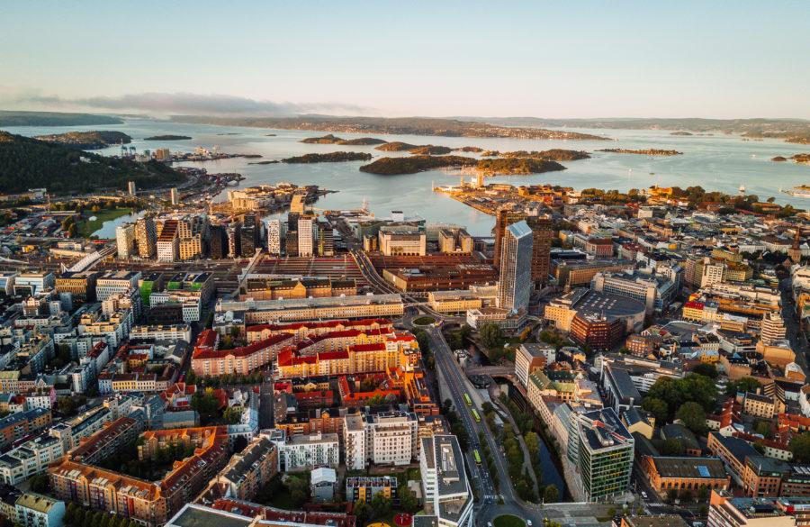Flyfoto Oslo sentrum